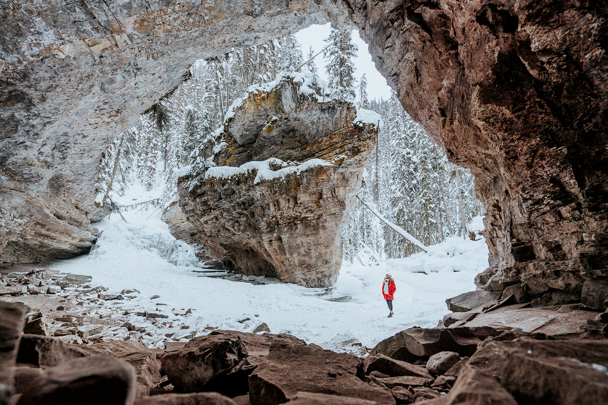 9 Best Winter Adventures in Banff Canadia - Johnston Canyon Renee Roaming