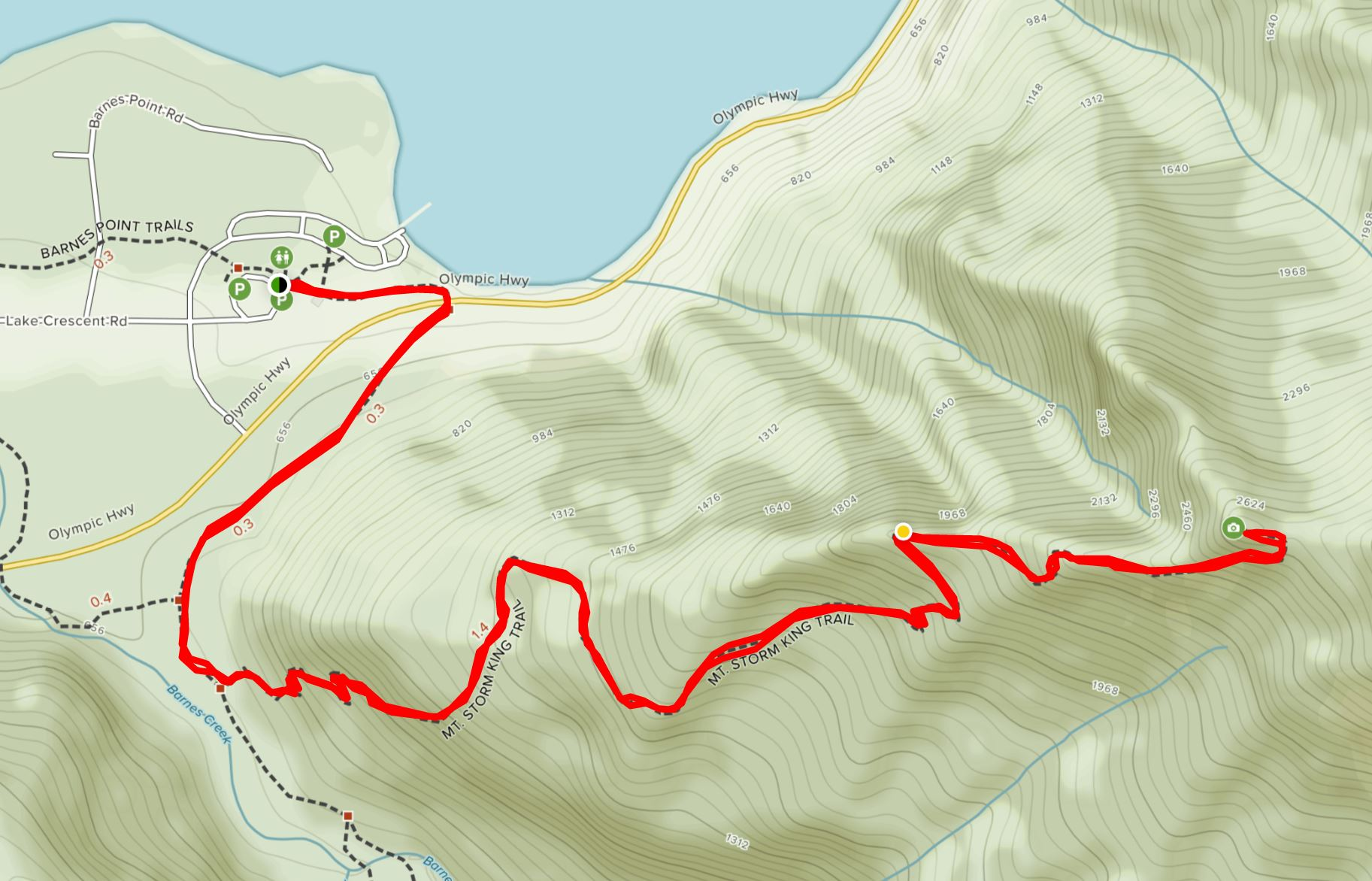Olympic National Park Adventure Getaway 24 Hour Itinerary from Seattle Renee Roaming Map
