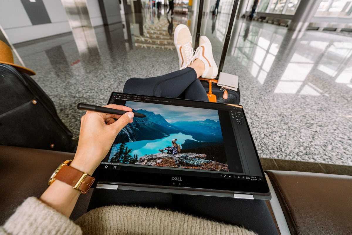 My Photo Editing Set-Up When Home VS Traveling Gear and Tips Renee Roaming Airport