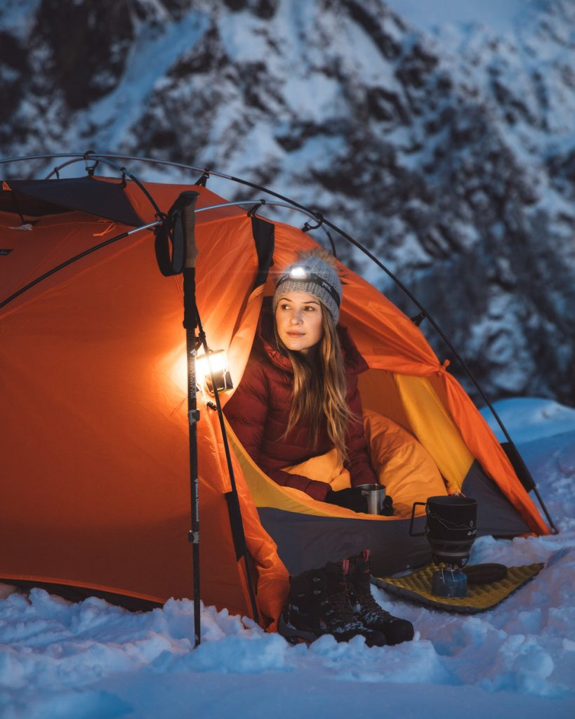 Ultimate Guide to Winter Hiking and Camping - headlamp