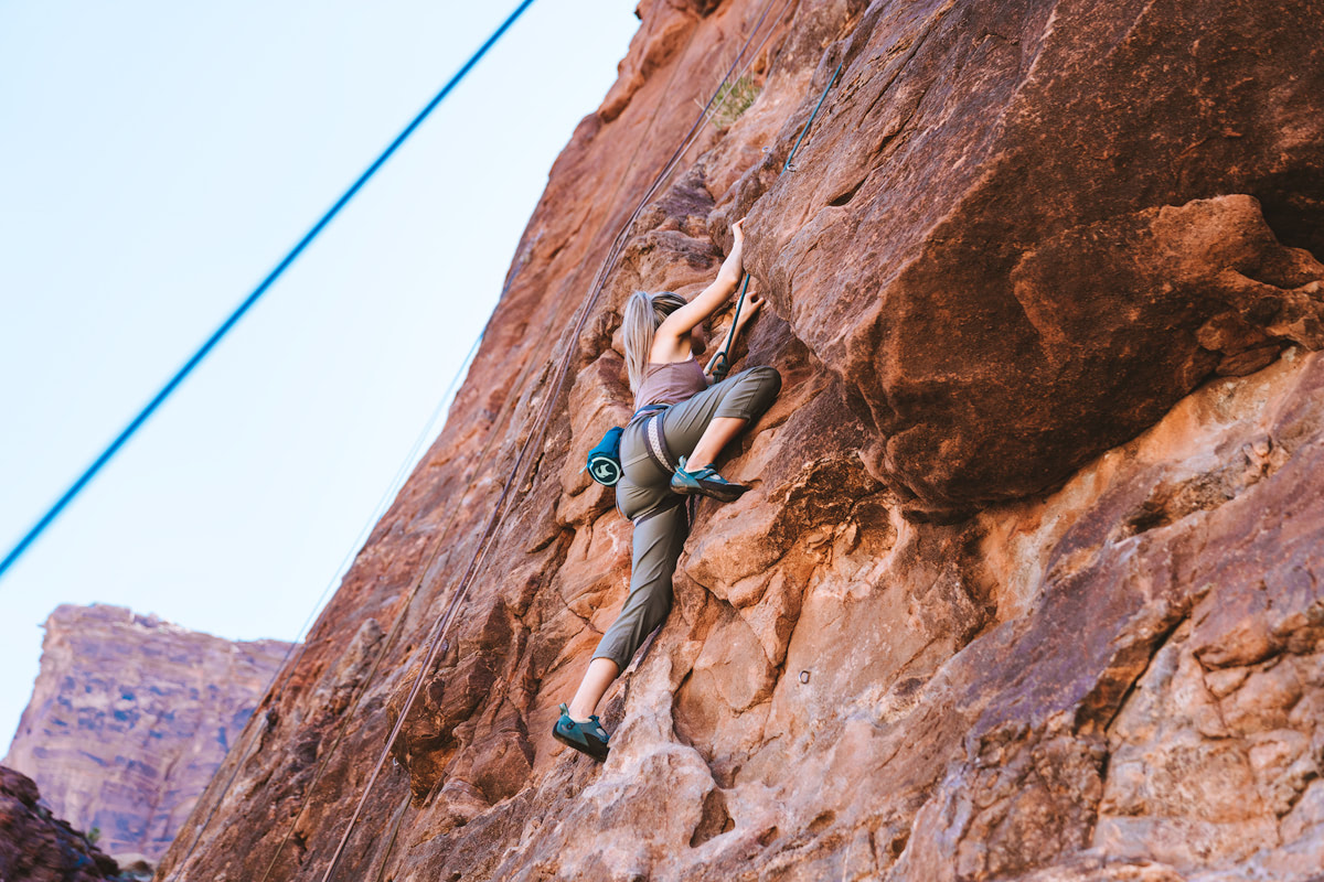 Experiencing Desert Climbing and Biking for the First Time Moab Rock Climbing with Backcountry 1