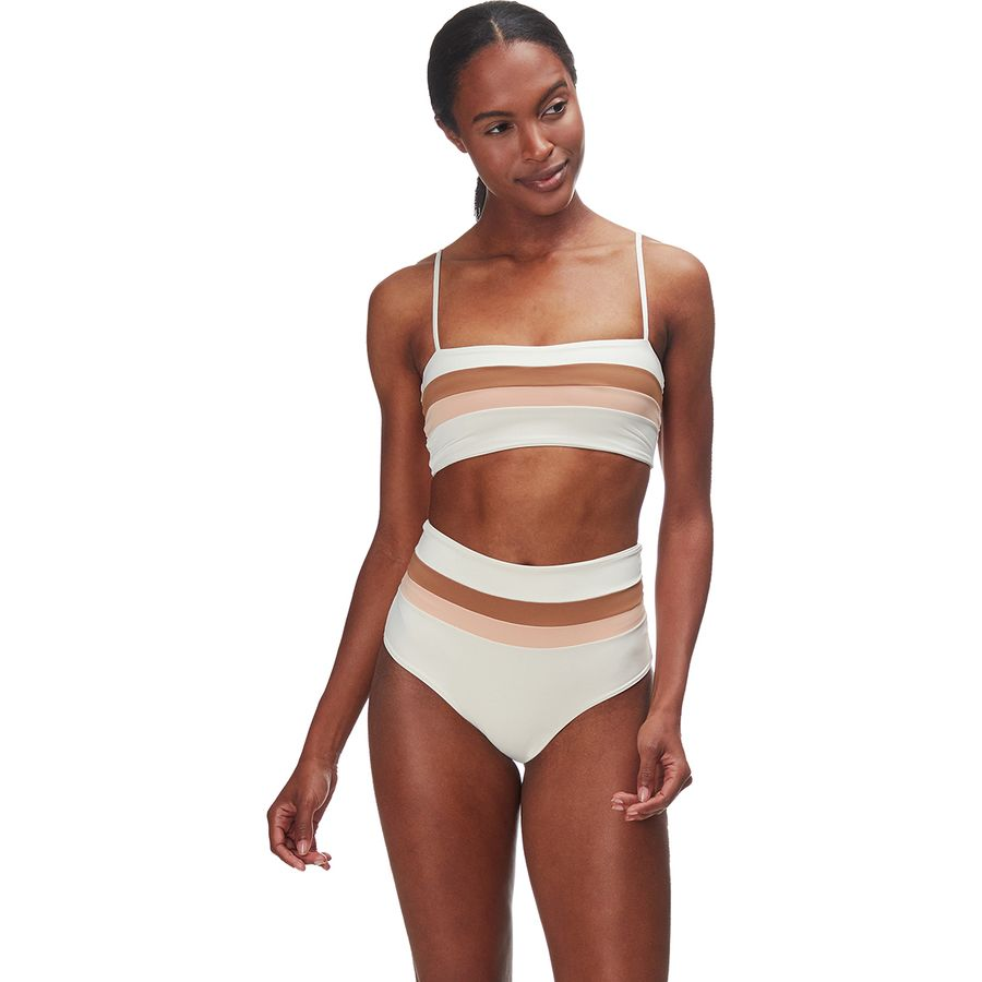 What to Pack for a Tropical Vacation to The Islands of Tahiti L Space Rebel Stripe Bikini Bottom