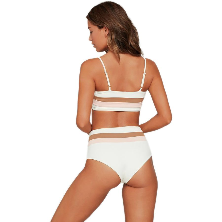 What to Pack for a Tropical Vacation to The Islands of Tahiti L Space Rebel Stripe Bikini Top