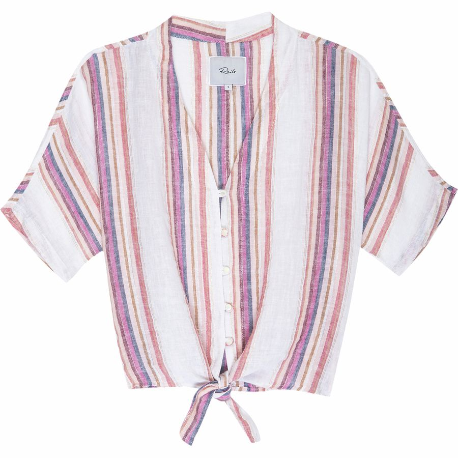 What to Pack for a Tropical Vacation to The Islands of Tahiti Rails Thea Jewel Stripe Shirt