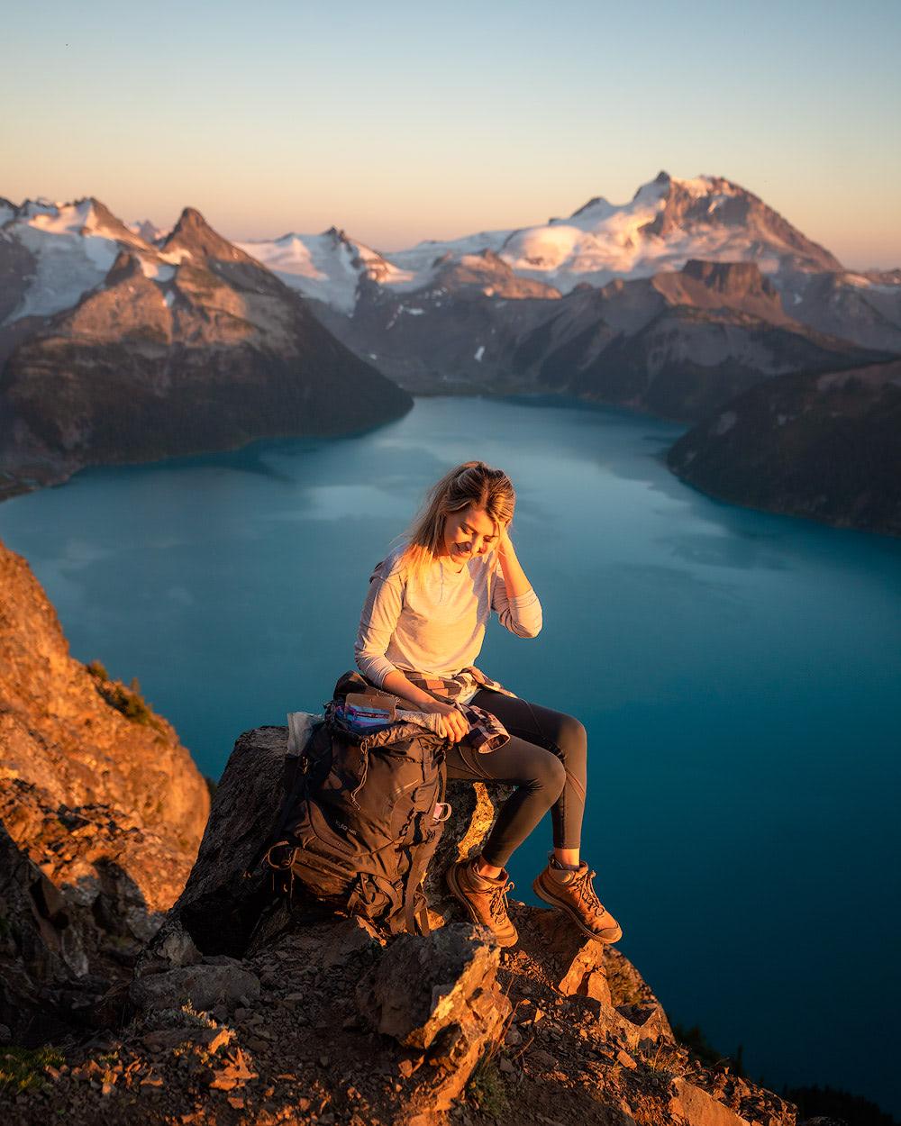 2019 Reflections and 2020 Intentions   Garibaldi Provincial Park Panorama Ridge Overnight Backpacking Trip Ridge Golden Hour