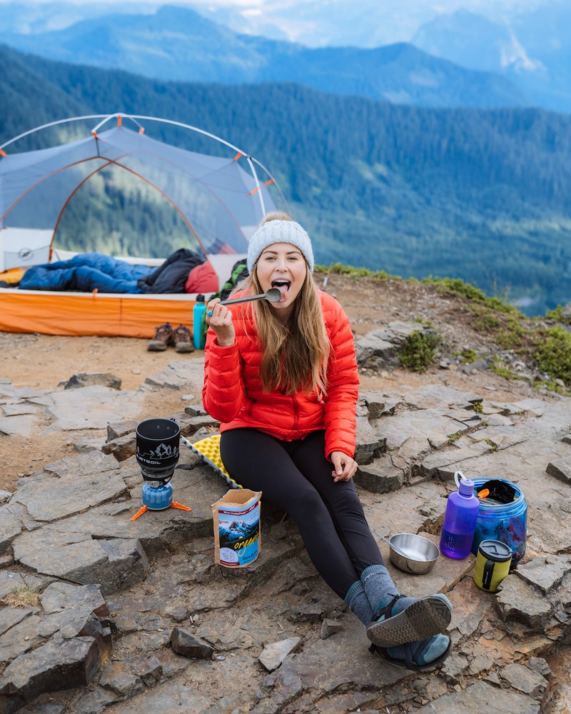 10 Tips for Getting a Good Night's Sleep when Backcountry Camping - Dinner