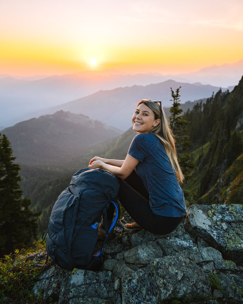 How To Get Over Your Fears of First Time Backcountry Camping - Washington Sunset
