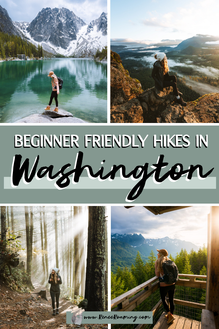 One of the questions I get asked most frequently is about my recommendations for Washington hikes. In particular, which trails I suggest for beginners. So I have put together this blog post featuring the 11 BEST beginner friendly hikes here in Washington state!In this article you will also find tips on how to plan hiking adventures, what to wear and pack on Washington hikes, and some trail etiquette tips. #WashingtonHikes #BeginnerHikes #Hiking #PNW #Washington