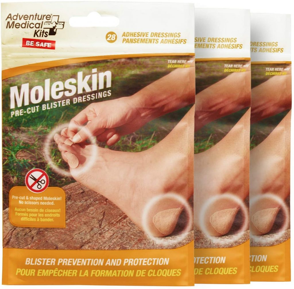 How to prevent blisters when hiking - Moleskin