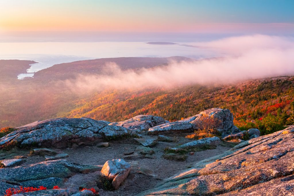 12 Best National Parks To Visit In The Fall - Acadia National Park Cadillac Mountain