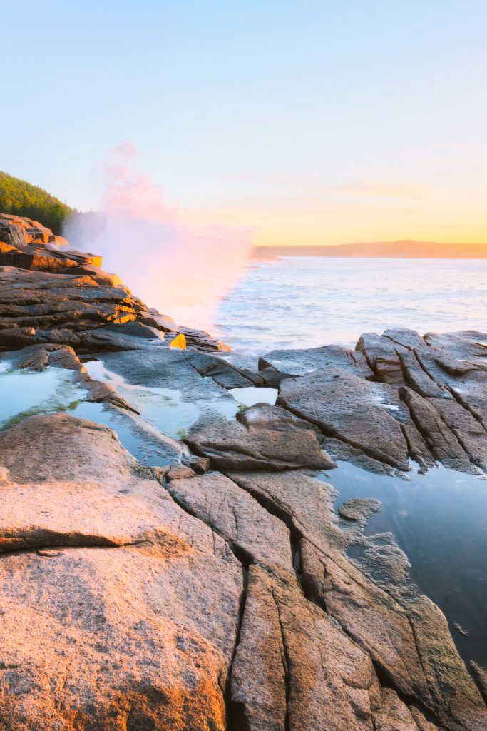 12 Best National Parks To Visit In The Fall - Acadia National Park Ocean Sunrise
