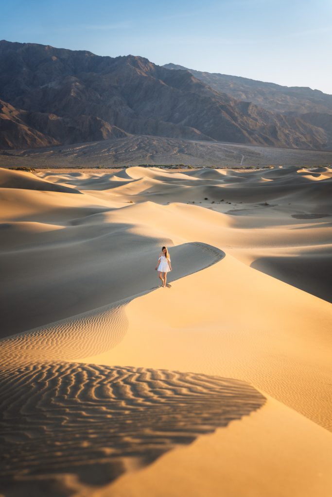 12 Best National Parks To Visit In The Fall - Death Valley National Park Mesquite Flat Sand Dunes