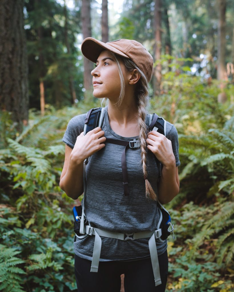 What to wear hiking as a woman - best hiking t shirt for women