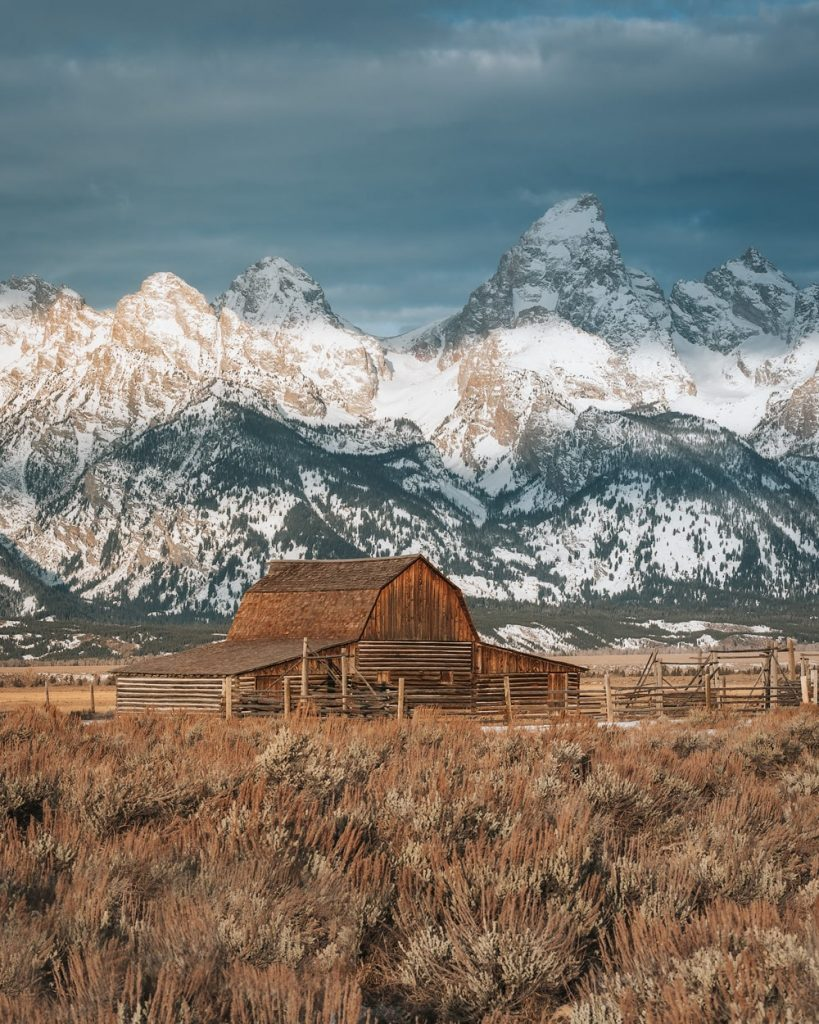 12 Best National Parks to Visit in Winter - Grand Teton National Park Mormon Row