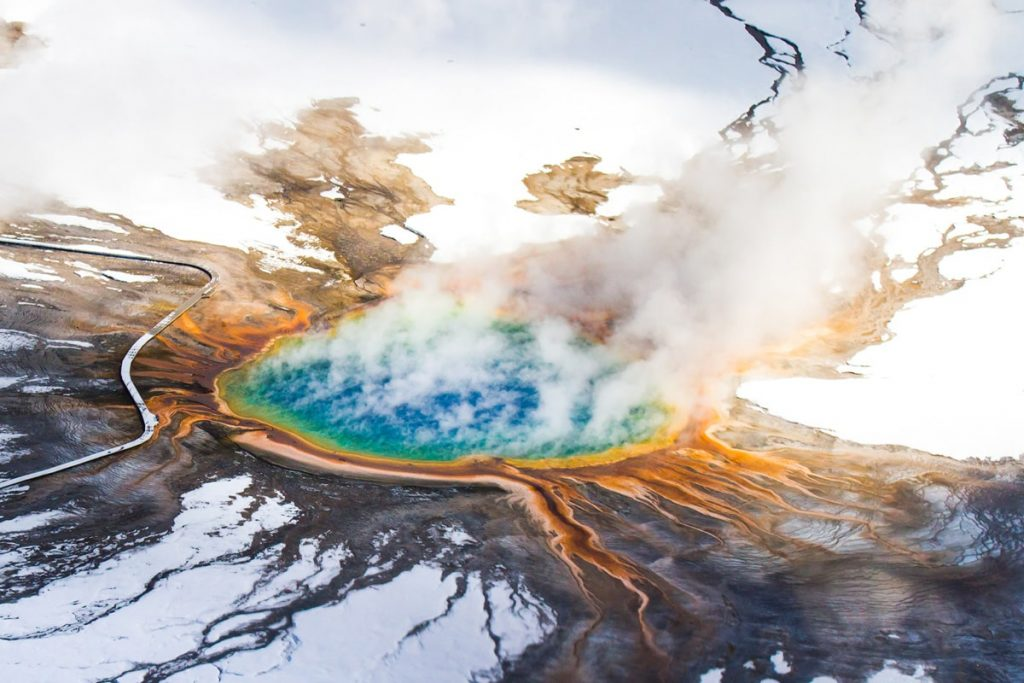 12 Best National Parks to Visit in Winter - Yellowstone National Park Grand Prismatic
