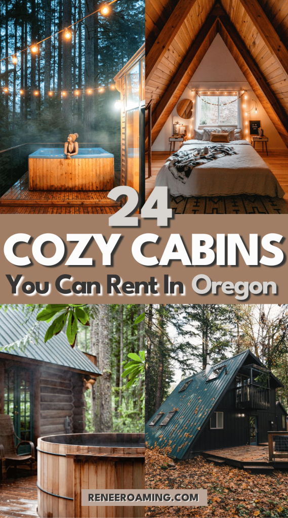 From rustic hideaways to riverfront retreats, there's nothing quite like renting a cabin in Oregon... especially when you can curl up with a good book and some great company! If you want to plan an off-grid getaway this season, there are plenty of dreamy cabins to rent in Oregon! In this blog post, I am sharing 24 of my favorite Oregon cabins! #Oregon #OregonCabin #Cabins #PacificNorthwest #PNW