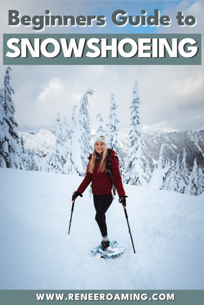 Snowshoeing is a wonderful way to access nature and stay fit during winter! It's also more accessible and budget-friendly compared to many other winter sports. In this guide, I am sharing a bunch of beginner snowshoeing tips. You should come away from it knowing all the essentials to safely go snowshoeing for the first time! #snowshoeing #winterhiking #snowshoe #winter #hiking