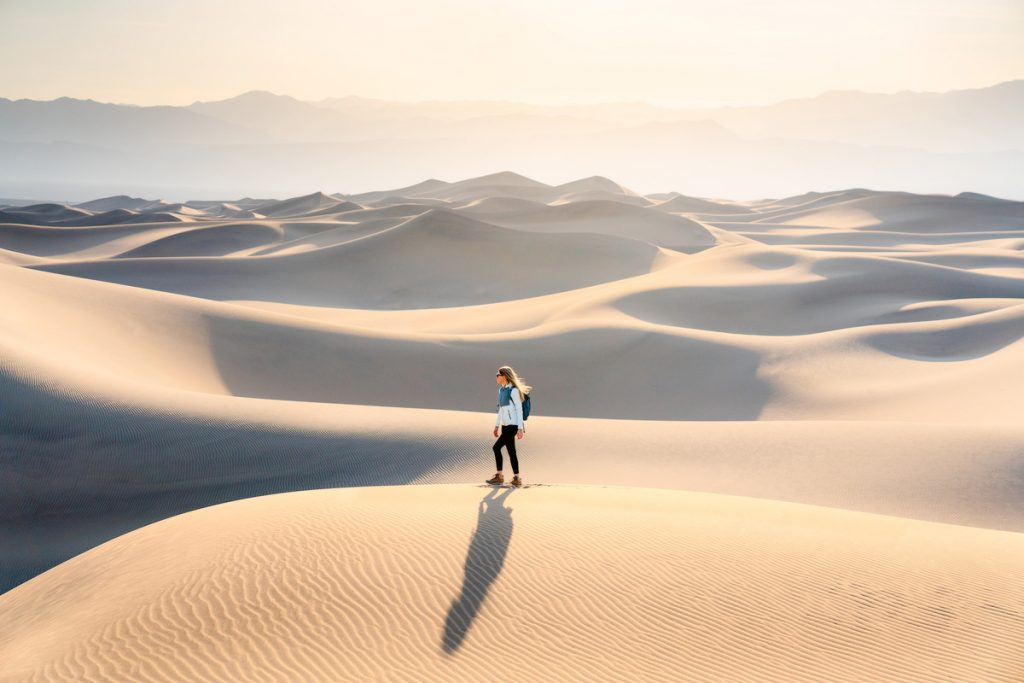Best National Parks to Visit in Spring - Death Valley National Park - Mesquite Flats Sand Dunes