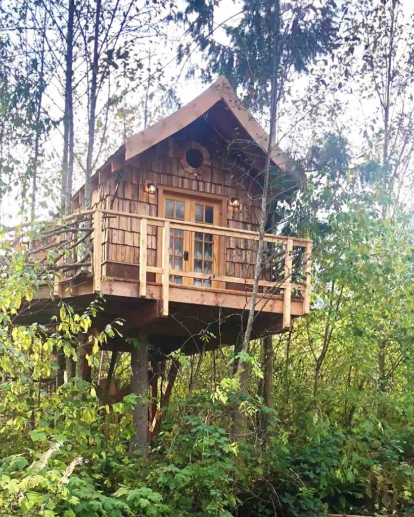 Best Pacific Northwest Treehouse Rentals - The Pond Perch Treehouse
