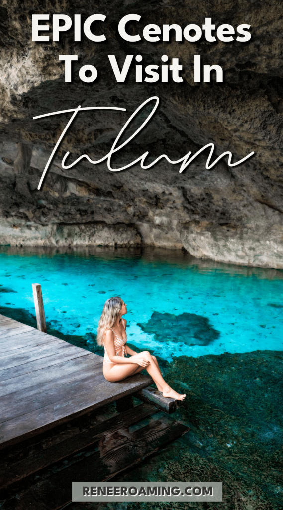 I'm sure you've seen the photos on Instagram and Pinterest that have helped make the Tulum and Yucatan Peninsula area so famous! You know, the people swimming in holes in the earth that are filled with crystal clear, vibrant colored water. Well, these are called cenotes, and they are pretty magical! There are over 6,000 of these cenotes on the Yucatan Peninsula of Mexico, and in this blog post, I'm going to share the 8 best cenotes to visit in the Tulum area! #Tulum #Cenotes