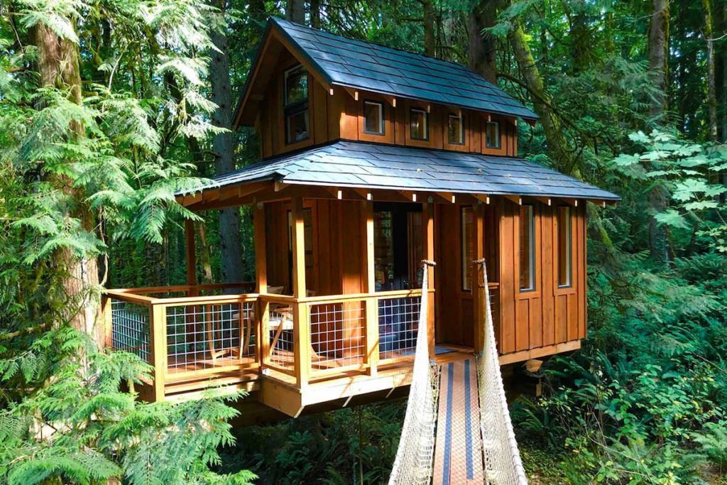 Treehouse You Can Rent In Oregon - Portland Treehouse