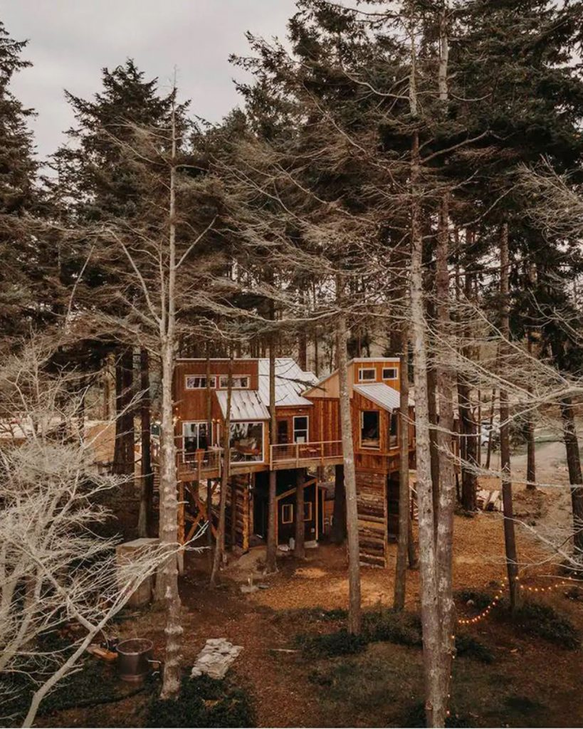 Treehouses you can rent in the Pacific Northwest - Eagles Nest Treehouse Olympic Peninsula