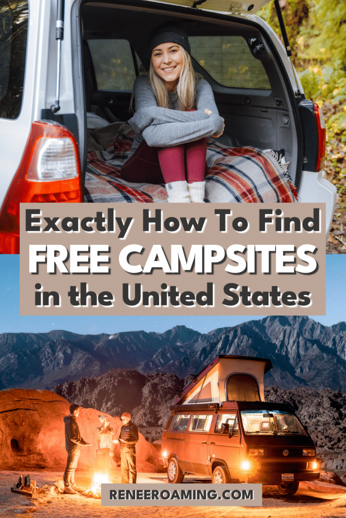 Using free camping around the USA is a budget-friendly and convenient way to take road trips! Not only can it help cut back on travel costs, but staying at free campsites typically provides gorgeous views, solitude from other people, and a quick way to make an overnight stop while on the road. There are many ways to find these free camping spots and this article provides all the resources to help you find amazing free campsites! #freecamping #carcamping #roadtrip