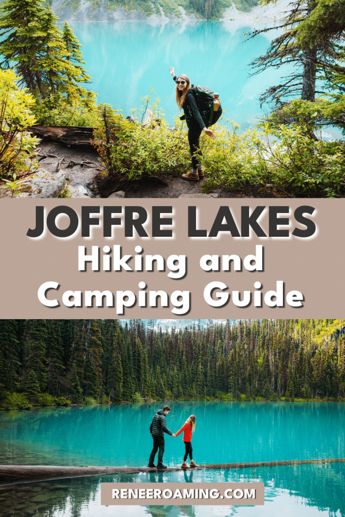 Hiking and camping in Joffre Lakes Provincial Park is undoubtedly one of the most beautiful experiences in all of British Columbia, Canada. The Joffre Lakes Trail gives hikers an easily accessible opportunity to experience some amazing alpine scenery without having to trek for days. This Joffre Lakes hiking guide will ensure you're prepared for an epic adventure to witness stunning turquoise water lakes and breathtaking glacier views. #JoffreLakes #Hiking #Camping