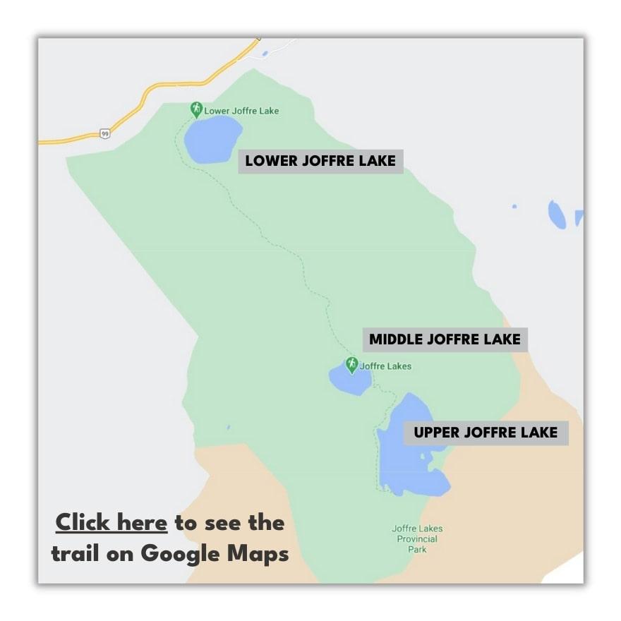 Joffre Lakes Trail Map