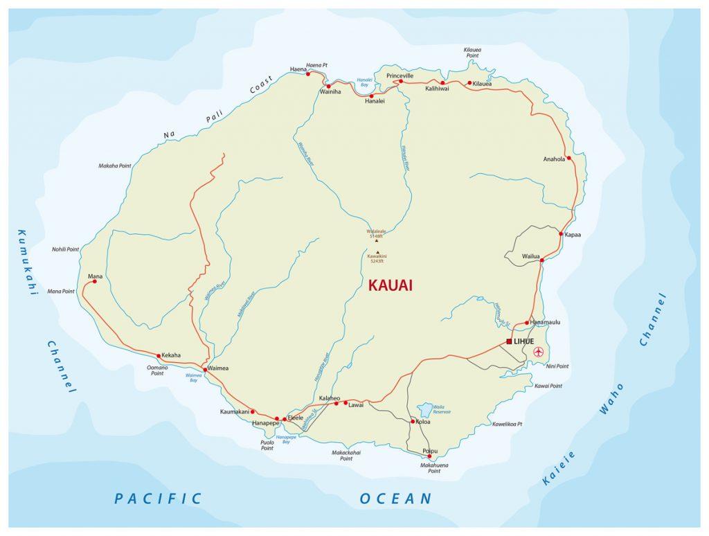 Kauai Hawaii Travel Guide - Map of Kauai Locations