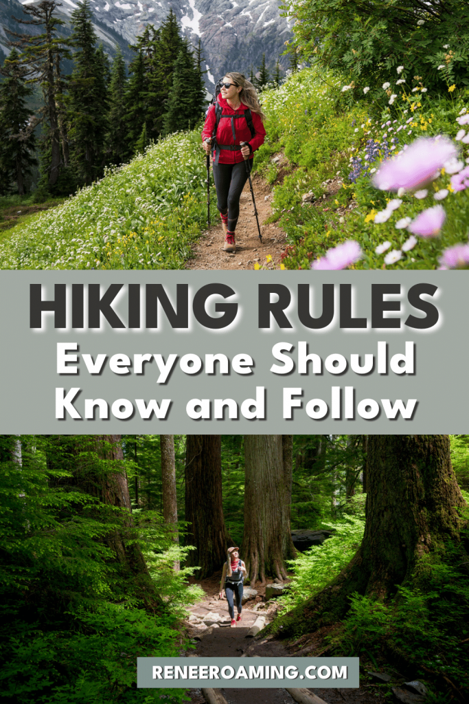 Following proper hiking trail etiquette rules can help create a positive outdoor experience for both you and others on the trail. While many of these are common courtesy, it is important to know what to do when presented with large crowds or in scenarios where you may find it difficult to proceed on the trail without being rude to others. In this article, I will be sharing the top hiking trail etiquette guidelines to know and follow! #hiking #outdoors