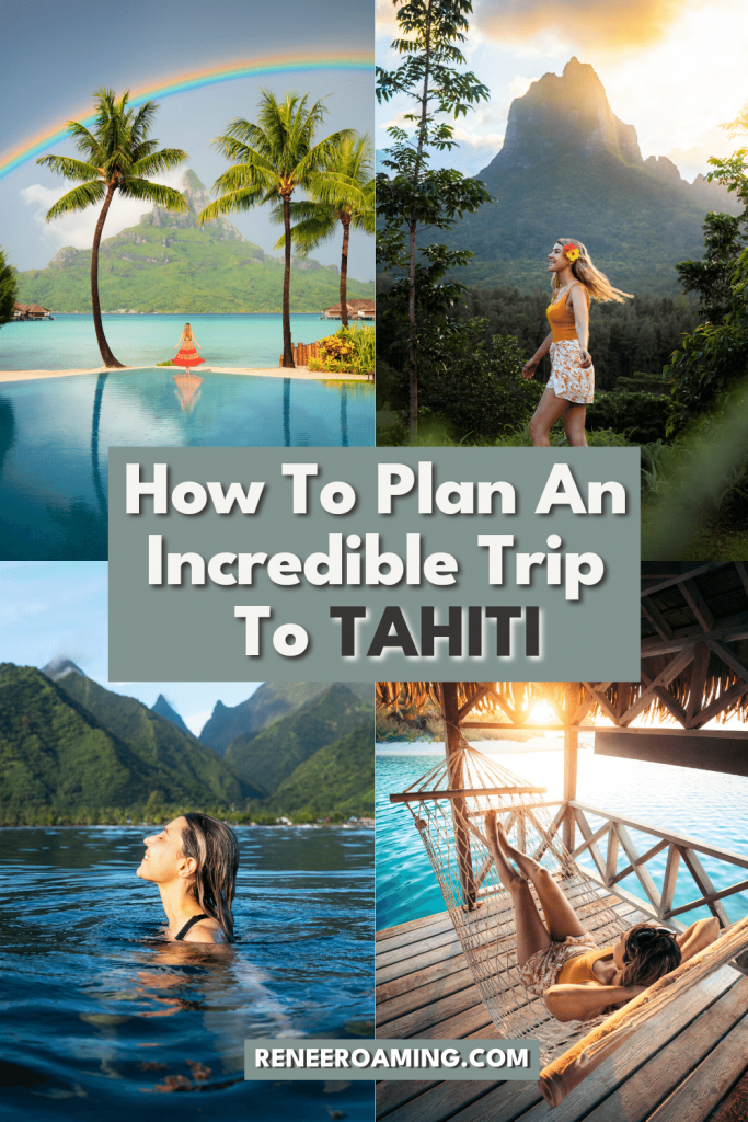 We've all seen the photos of Tahiti while scrolling through social media. Impossibly blue water, palm trees lining deserted beaches, and lush mountains that reach far down to the ocean below. Well, all of it is real, and the photos might not even being truly doing the Island of Tahiti justice! In this blog post, I'm sharing everything you need to know to plan a trip to Tahiti! #BoraBora #Moorea #Tikeahau #Tahiti #TahitiTravel #FrenchPolynesia