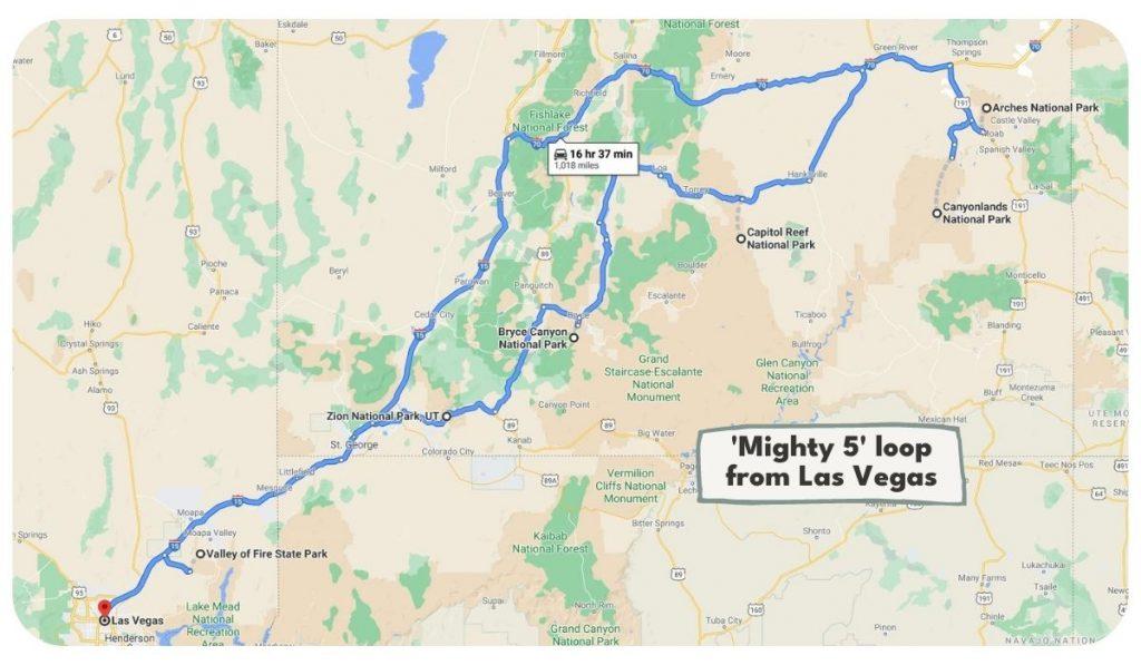Ultimate Utah National Parks Road Trip Itinerary from Las Vegas