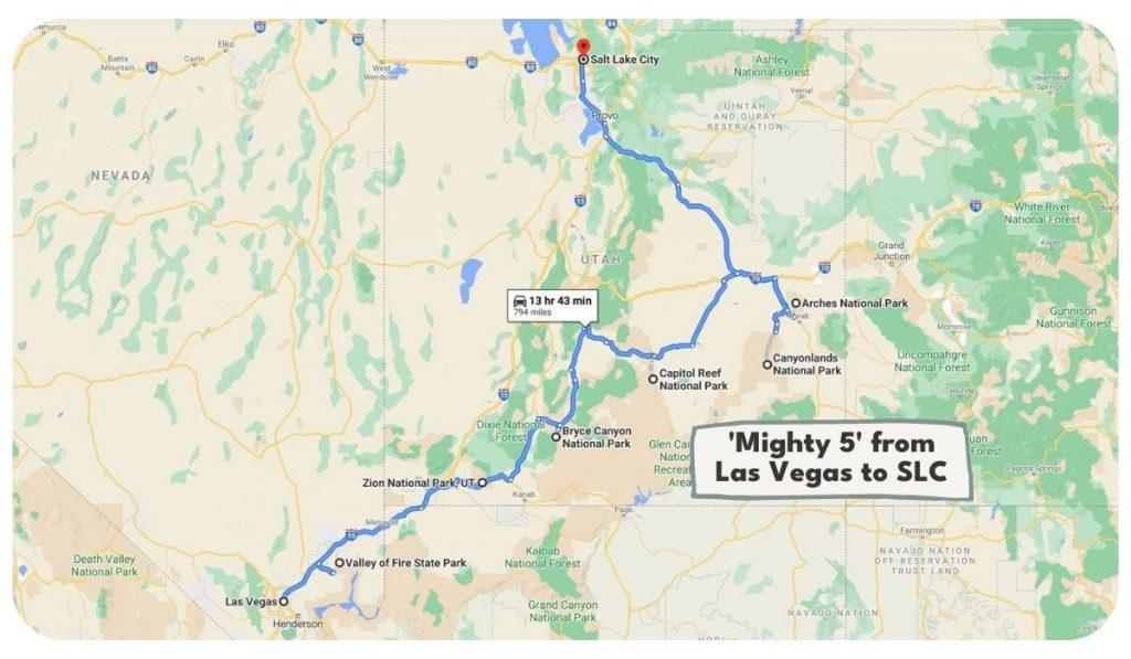 Ultimate Utah National Parks Road Trip Itinerary from Las Vegas and Salt Lake City
