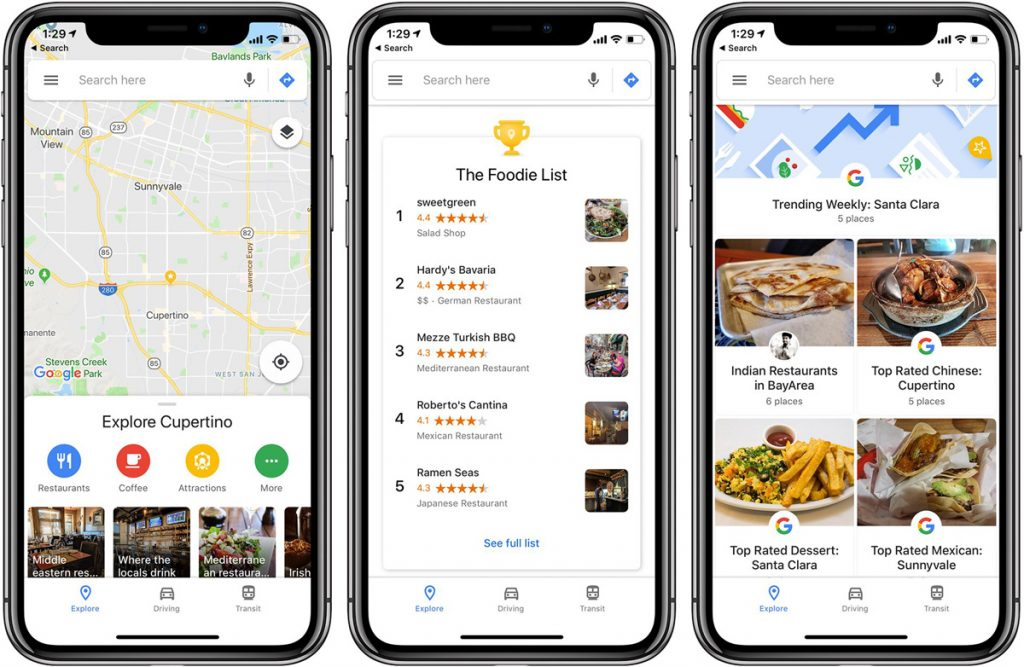 Best Road Trip Planner Apps To Find Places to Eat - Google Maps